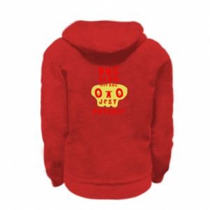 Kid's zipped hoodie % print% To be or not to be