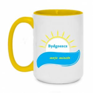 Two-toned mug 450ml Bydgoszcz this is my city