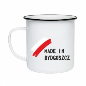 Enameled mug Made in Bydgoszcz