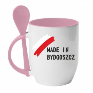 Kubek z ceramiczną łyżeczką Made in Bydgoszcz