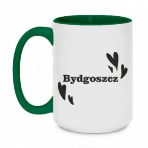Two-toned mug 450ml Bydgoszcz