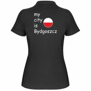 Damska koszulka polo My city is Bydgoszcz