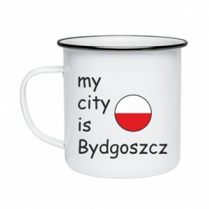 Enameled mug My city is Bydgoszcz