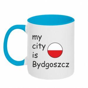 Kubek dwukolorowy My city is Bydgoszcz