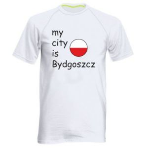 Men's sports t-shirt My city is Bydgoszcz