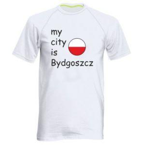 Męska koszulka sportowa My city is Bydgoszcz