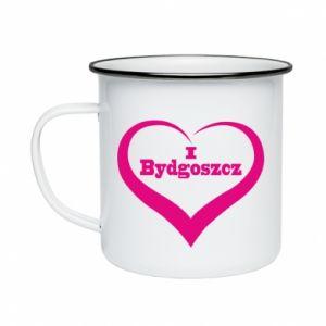 Kubek emaliowane I love Bydgoszcz