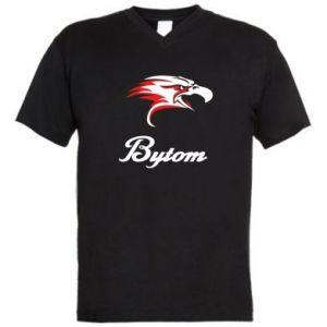 Męska koszulka V-neck Bytom orzeł trójkolorowy