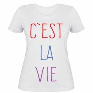 Damska koszulka C'est la vie