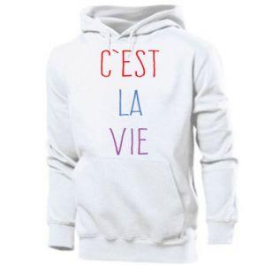 Men's hoodie C'est la vie