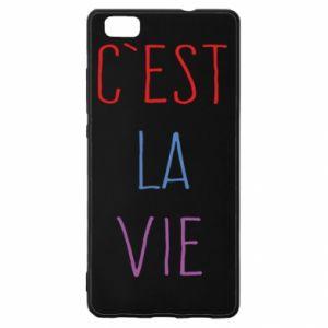 Huawei P8 Lite Case C'est la vie