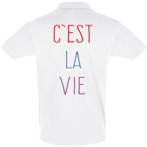 Men's Polo shirt C'est la vie