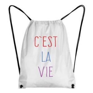 Plecak-worek C'est la vie