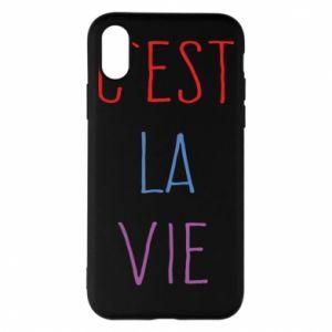 Phone case for iPhone X/Xs C'est la vie