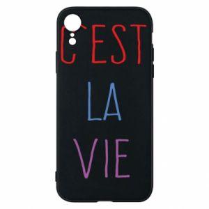 Etui na iPhone XR C'est la vie