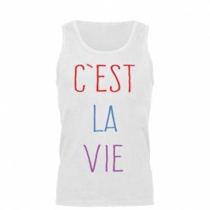 Męska koszulka C'est la vie