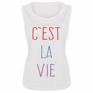 Damska koszulka bez rękawów C'est la vie