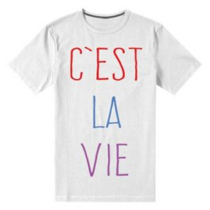 Męska premium koszulka C'est la vie