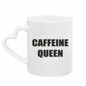 Mug with heart shaped handle Caffeine queen