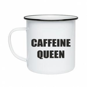 Kubek emaliowane Caffeine queen