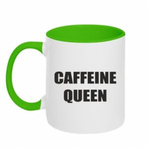 Two-toned mug Caffeine queen
