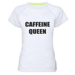 Damska koszulka sportowa Caffeine queen