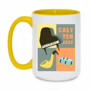Two-toned mug 450ml All that jazz
