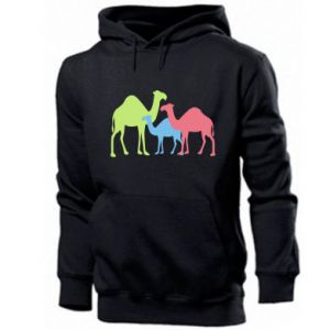 Men's hoodie Camel family - PrintSalon