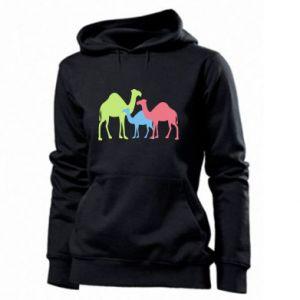 Women's hoodies Camel family - PrintSalon