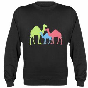 Sweatshirt Camel family - PrintSalon