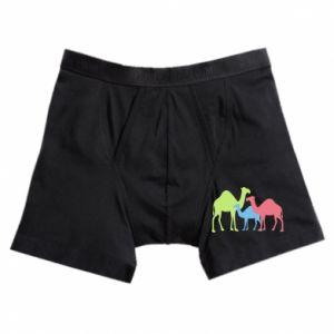 Boxer trunks Camel family - PrintSalon