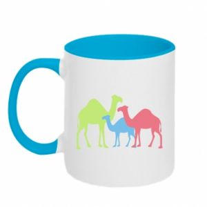 Two-toned mug Camel family - PrintSalon