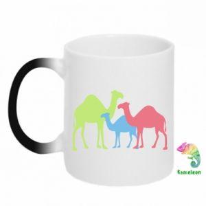 Chameleon mugs Camel family - PrintSalon