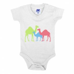 Baby bodysuit Camel family - PrintSalon