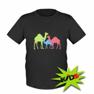 Kids T-shirt Camel family - PrintSalon