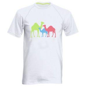 Men's sports t-shirt Camel family - PrintSalon