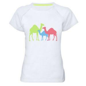 Women's sports t-shirt Camel family - PrintSalon