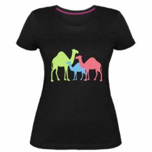 Women's premium t-shirt Camel family - PrintSalon