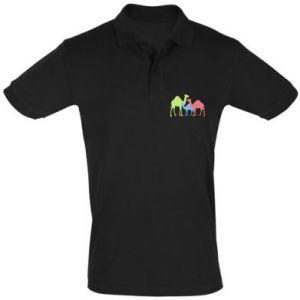 Men's Polo shirt Camel family - PrintSalon