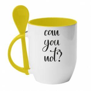 Kubek z ceramiczną łyżeczką Can you not?