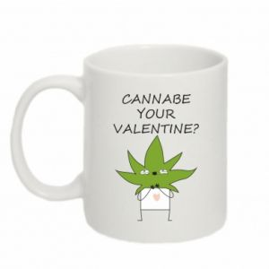 Kubek 330ml Cannabe your valentine?