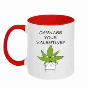 Two-toned mug Cannabe your valentine?