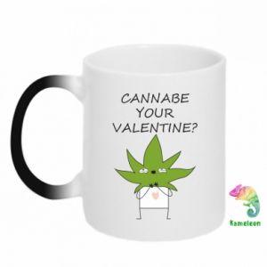 Kubek-kameleon Cannabe your valentine?