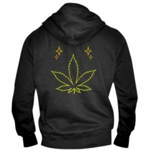 Męska bluza z kapturem na zamek Cannabis