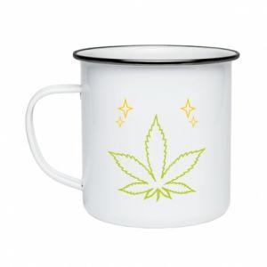 Kubek emaliowane Cannabis