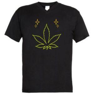 Męska koszulka V-neck Cannabis