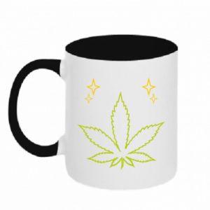 Kubek dwukolorowy Cannabis