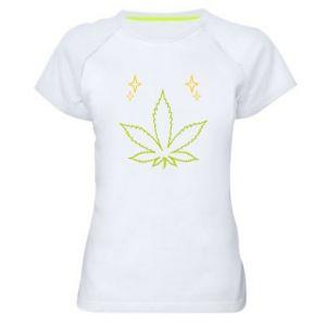 Women's sports t-shirt Cannabis