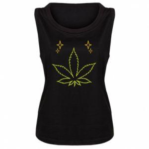 Damska koszulka bez rękawów Cannabis