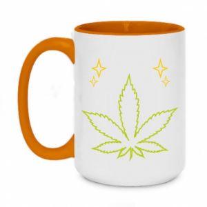 Kubek dwukolorowy 450ml Cannabis